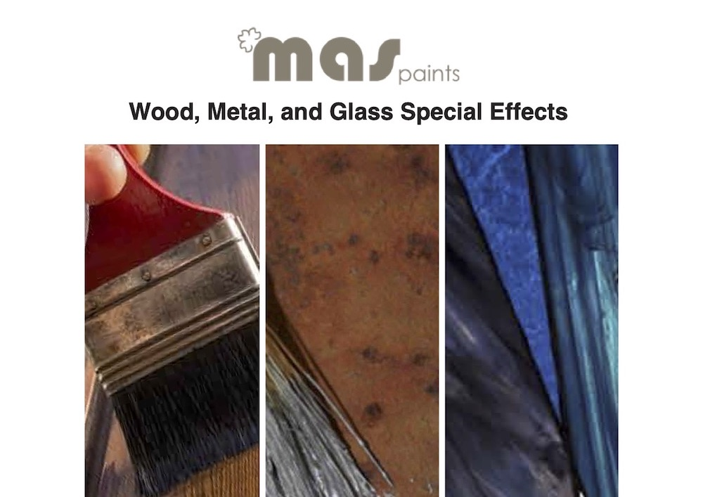 MAS wood glass and metal effects